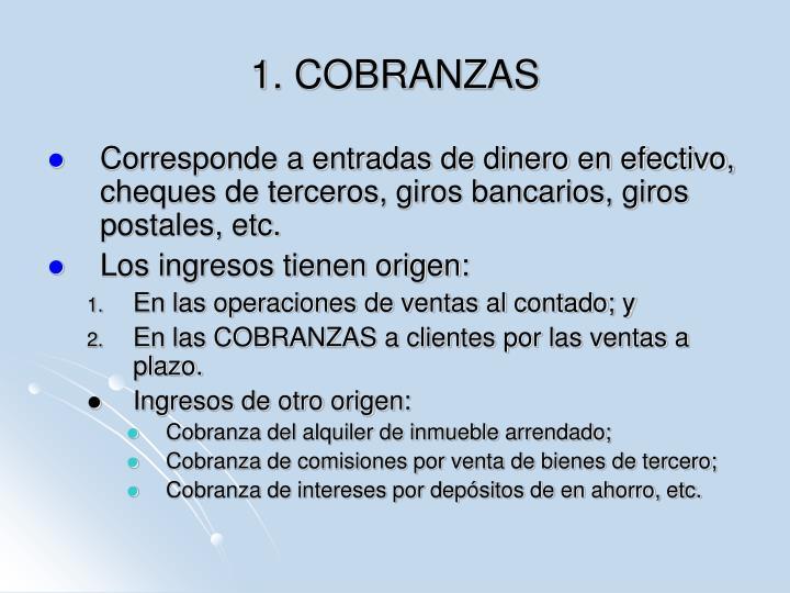 1. COBRANZAS