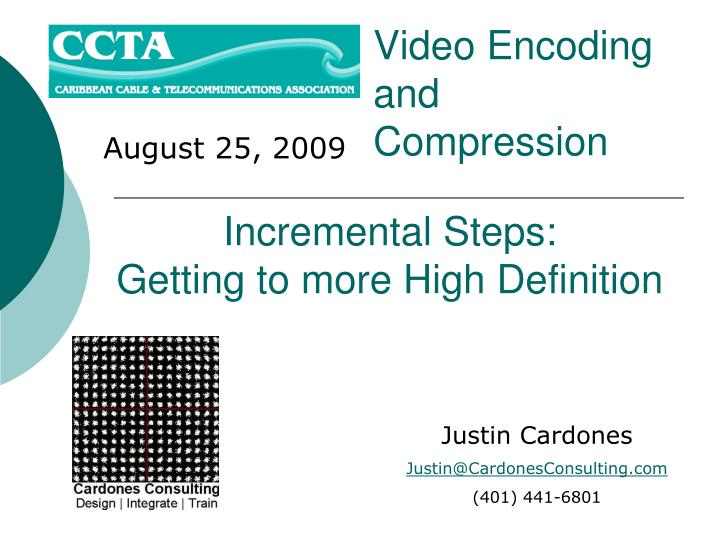 video encoding and compression n.