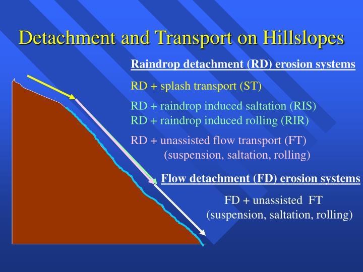 Detachment and Transport on Hillslopes