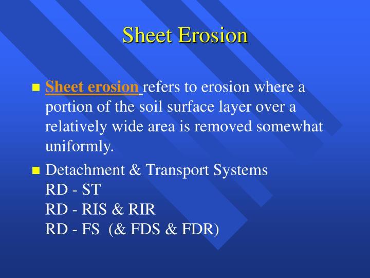 Sheet Erosion
