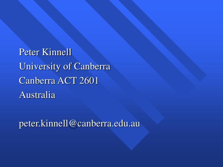 Peter Kinnell