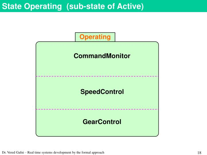 State Operating  (sub-state of Active)