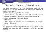 the info tourist lbs application