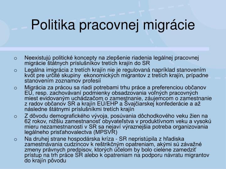 Politika pracovnej migrácie