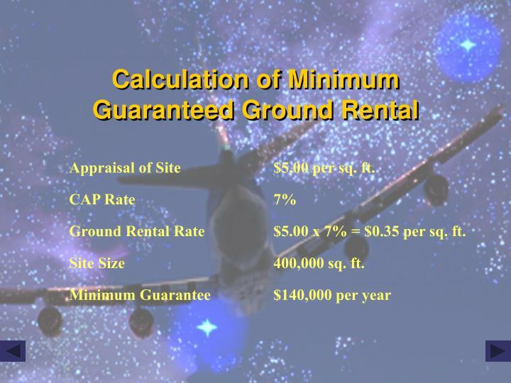 Calculation of Minimum