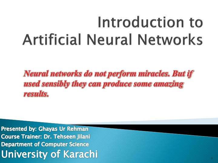 introduction to artificial neural networks n.