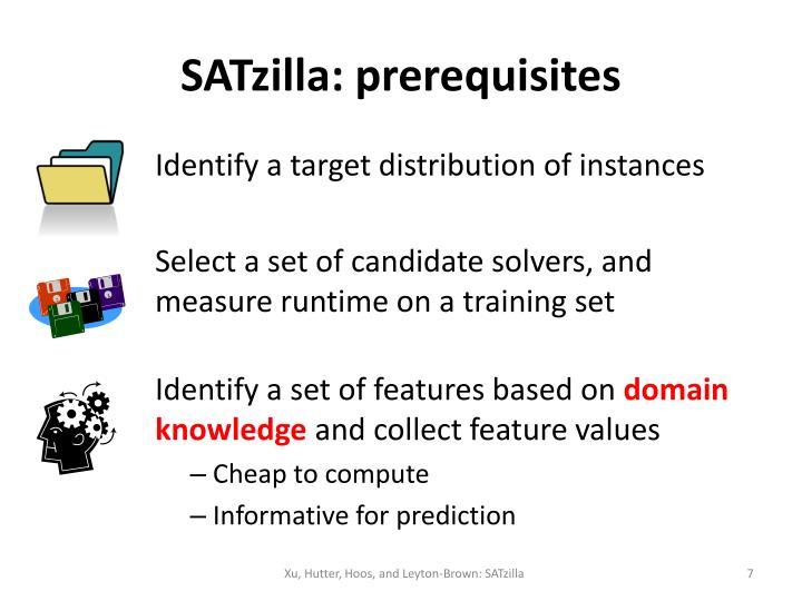 SATzilla: prerequisites