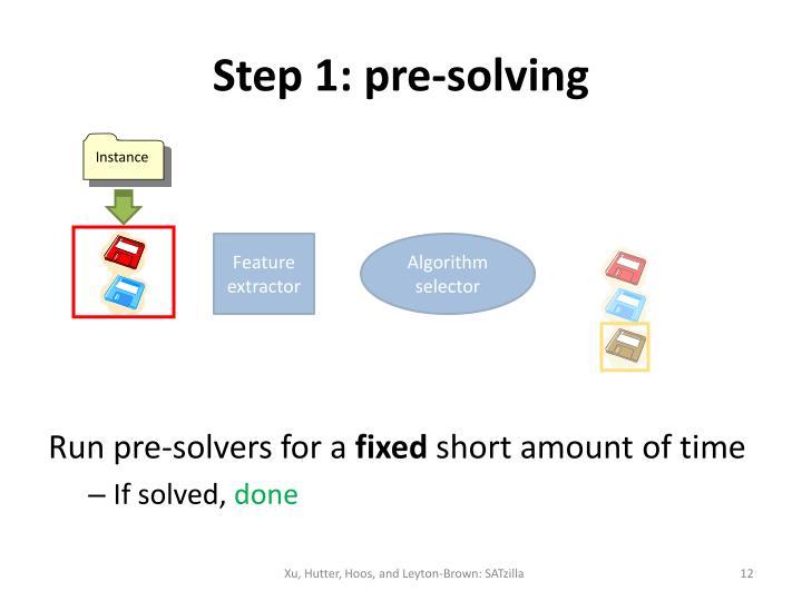 Step 1: pre-solving