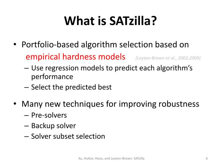 What is SATzilla?