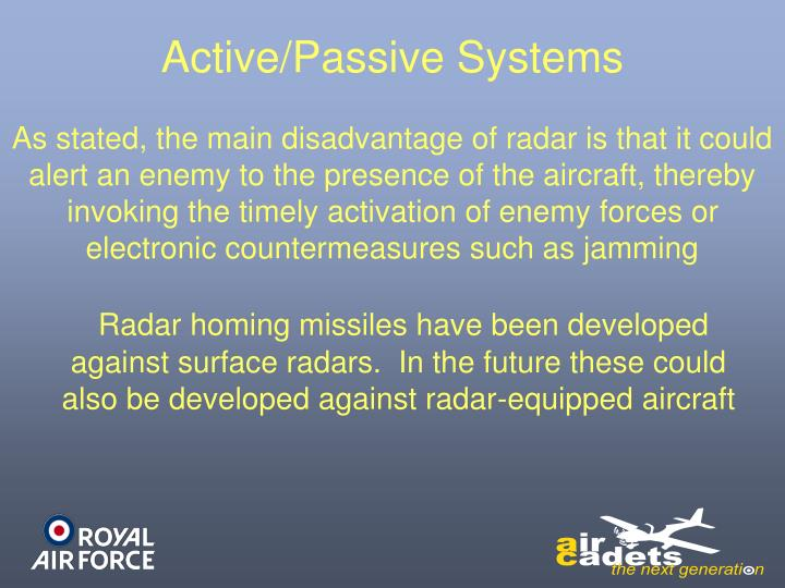 Active/Passive Systems