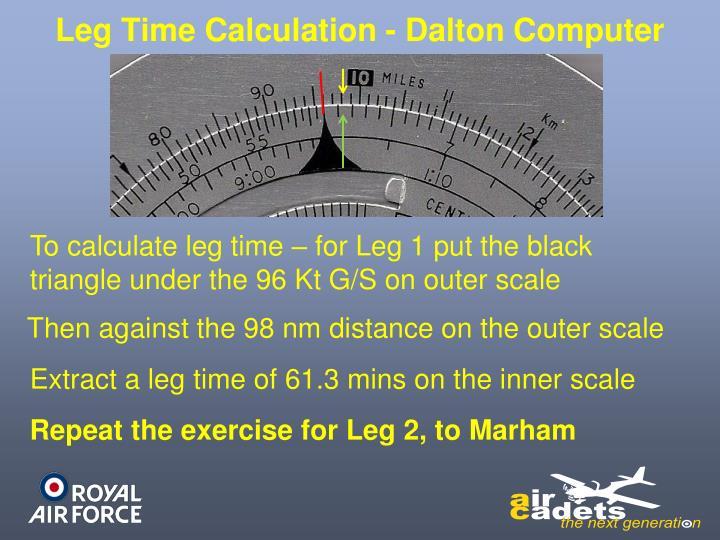Leg Time Calculation - Dalton Computer