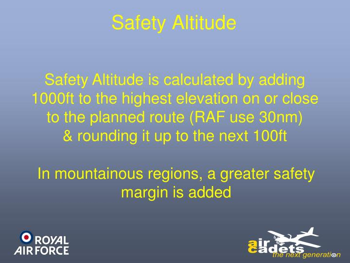 Safety Altitude