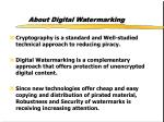 about digital watermarking