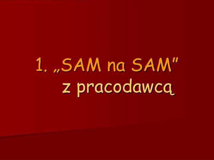 """1. """"SAM na SAM"""""""