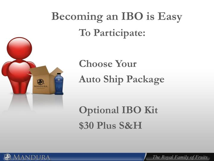 Becoming an IBO is Easy