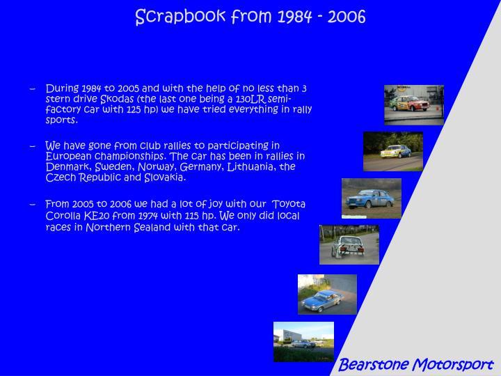 Scrapbook from 1984 - 2006