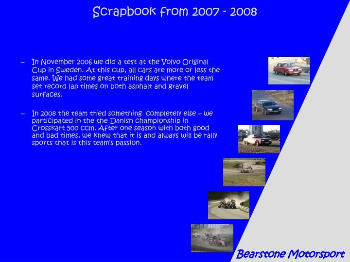 Scrapbook from 2007 - 2008