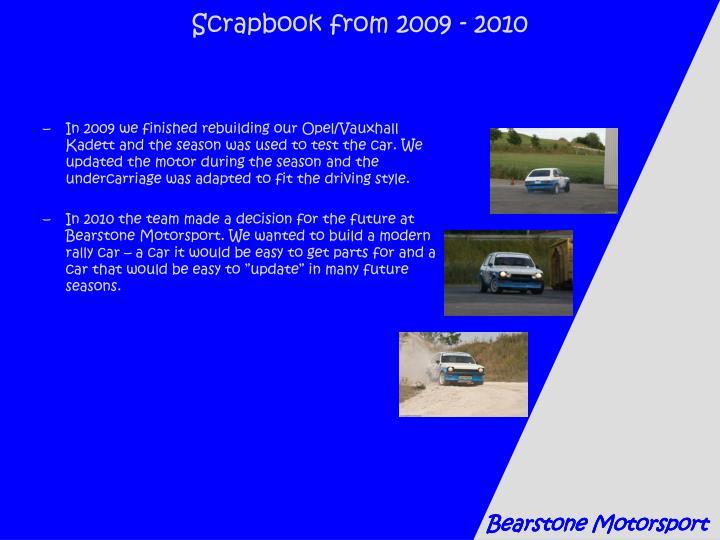 Scrapbook from 2009 - 2010