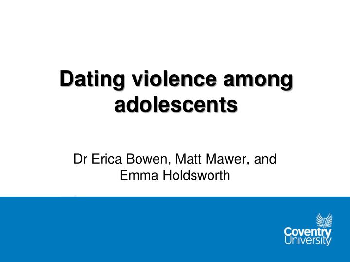 dating violence among adolescents n.