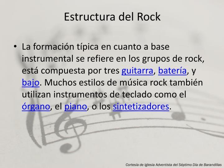 Estructura del Rock