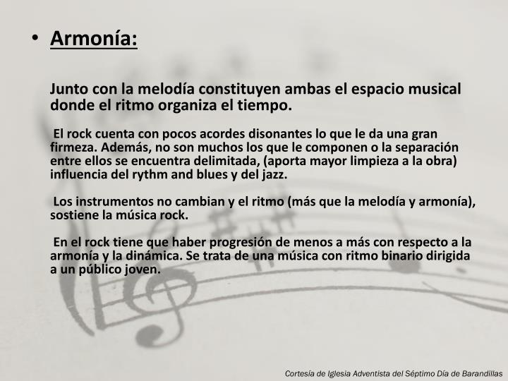 Armonía:
