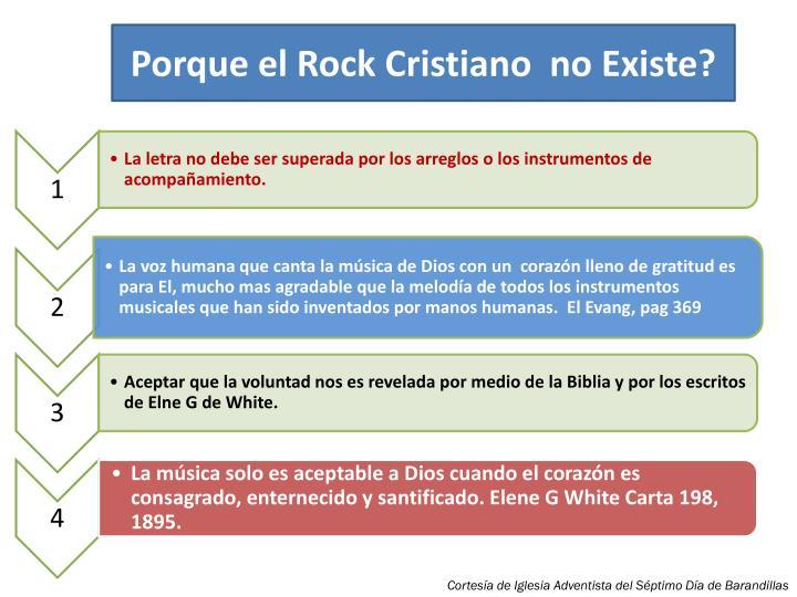 Porque el Rock Cristiano  no Existe?