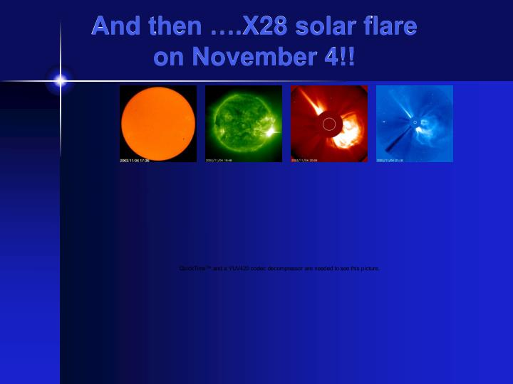 And then ….X28 solar flare