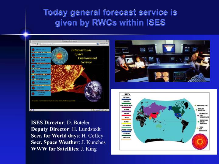 Today general forecast service is