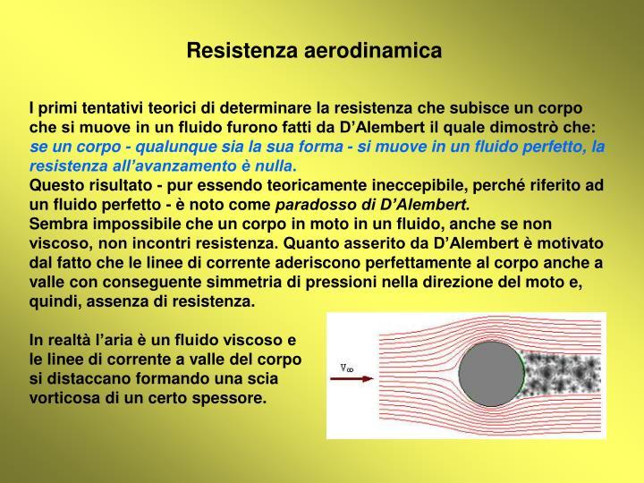 Resistenza aerodinamica