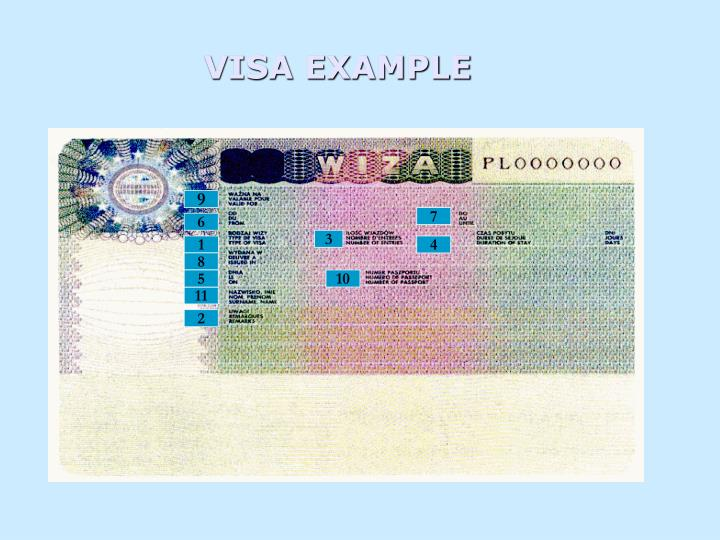 VISA EXAMPLE