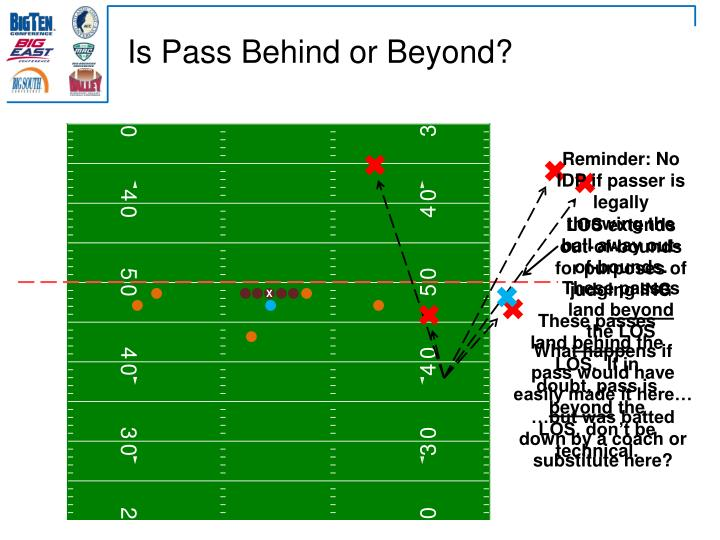 Is Pass Behind or Beyond?