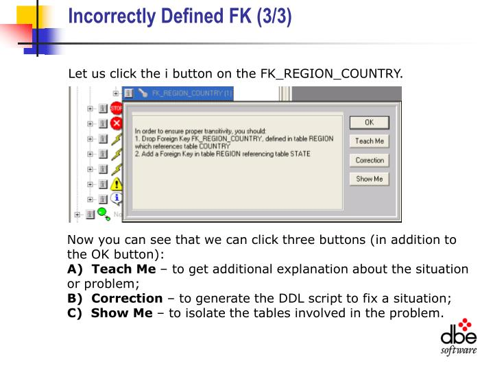 Incorrectly Defined FK (3/3)