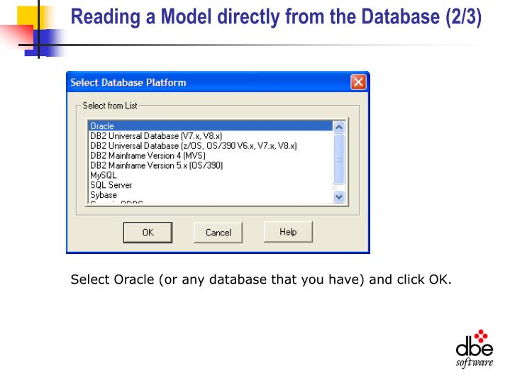 Reading a Model directly from the Database (2/3)