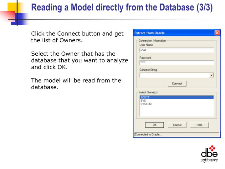 Reading a Model directly from the Database (3/3)