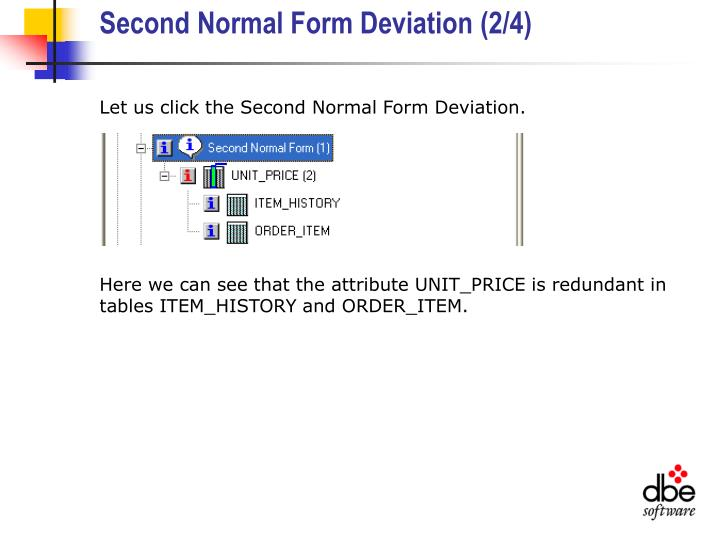 Second Normal Form Deviation (2/4)