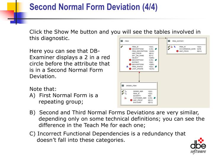 Second Normal Form Deviation (4/4)