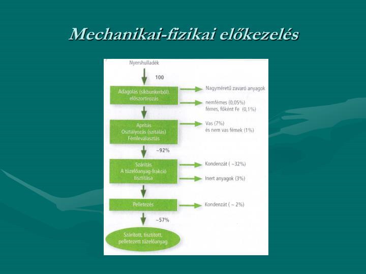 Mechanikai-fizikai előkezelés