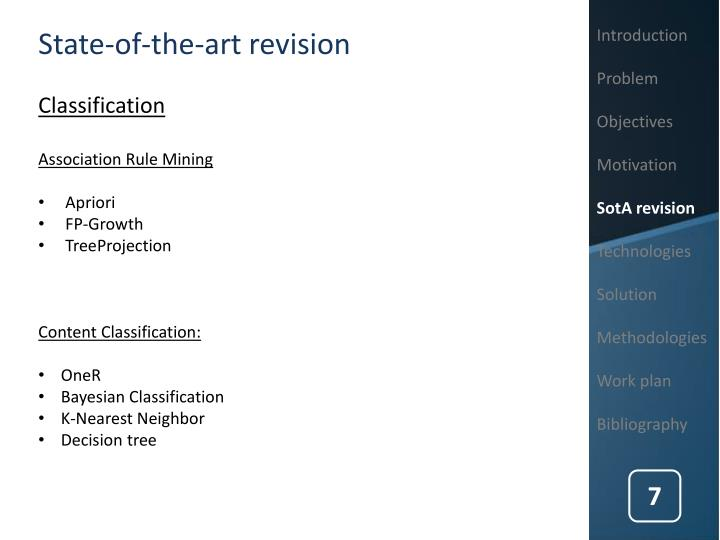 State-of-the-art revision