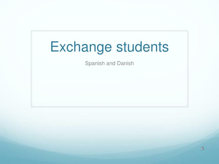 exchange students n.