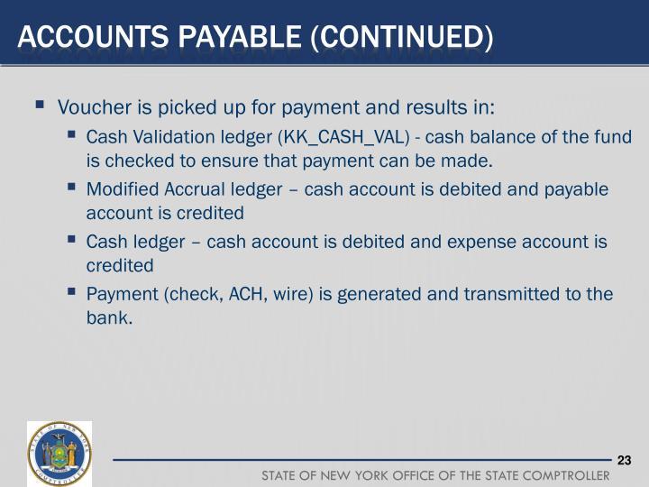 Accounts payable (continued)