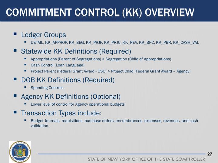 Commitment Control (KK) Overview