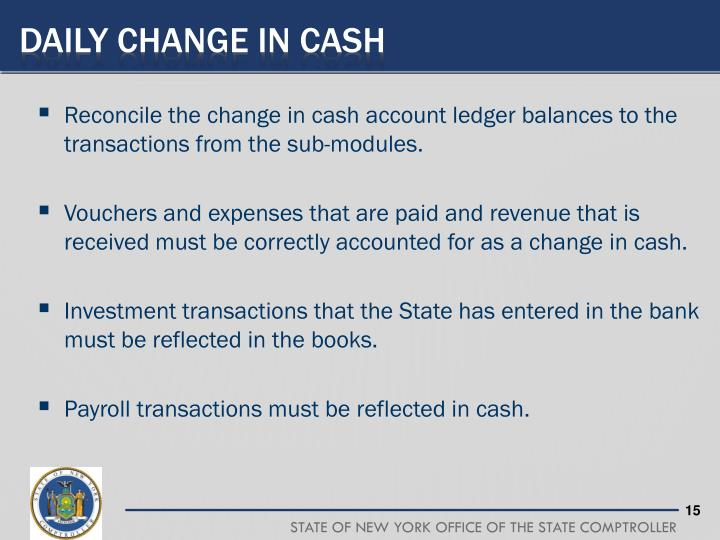 Daily Change in Cash