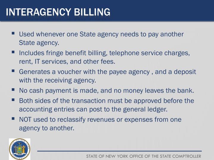 Interagency Billing