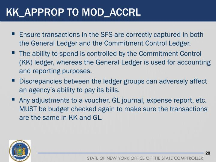 KK_APPROP to MOD_ACCRL