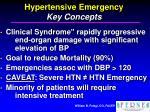 hypertensive emergency key concepts