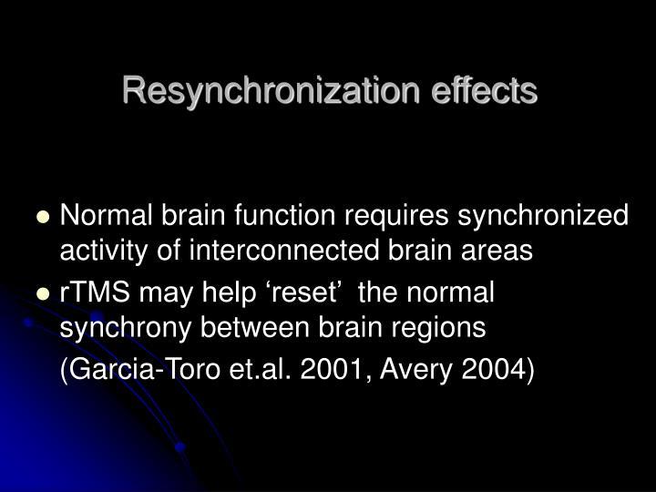 Resynchronization effects