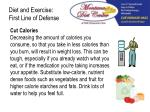 diet and exercise first line of defense1