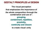 gestalt principles of design