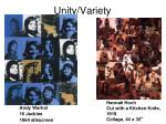 unity variety