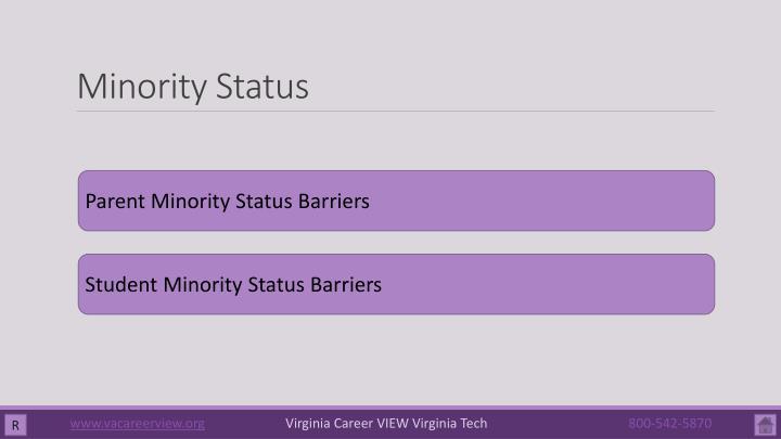 Minority Status